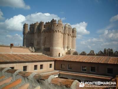 Coca - Ruta de castillos - Castillos Valladolid - Castillos Segovia - Castillo Coca; muniellos; mapa